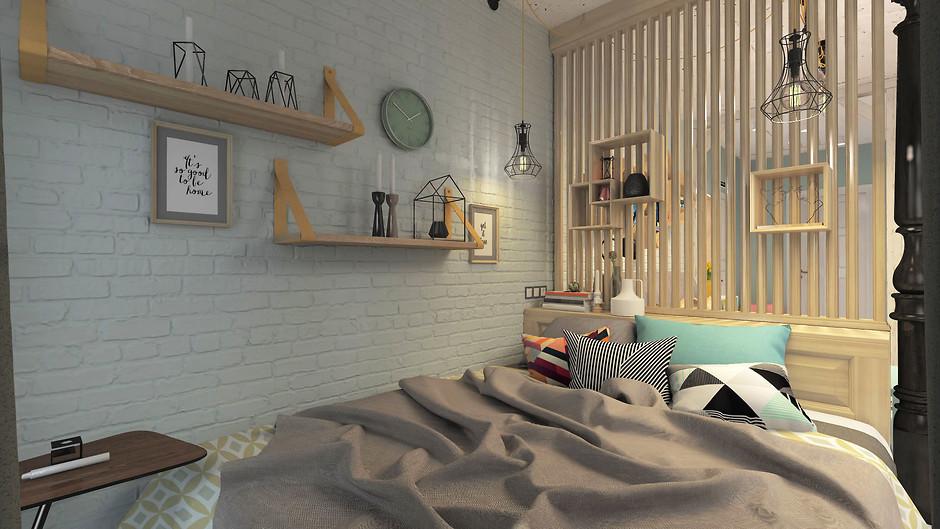 Спальня в студии