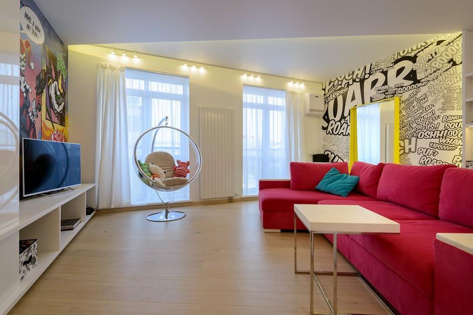 Интерьер поп-арт в квартире