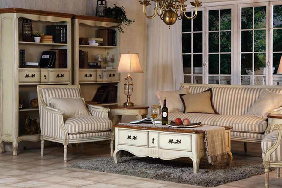 шторы в интерьере гостиной в стиле прованс шебби шик