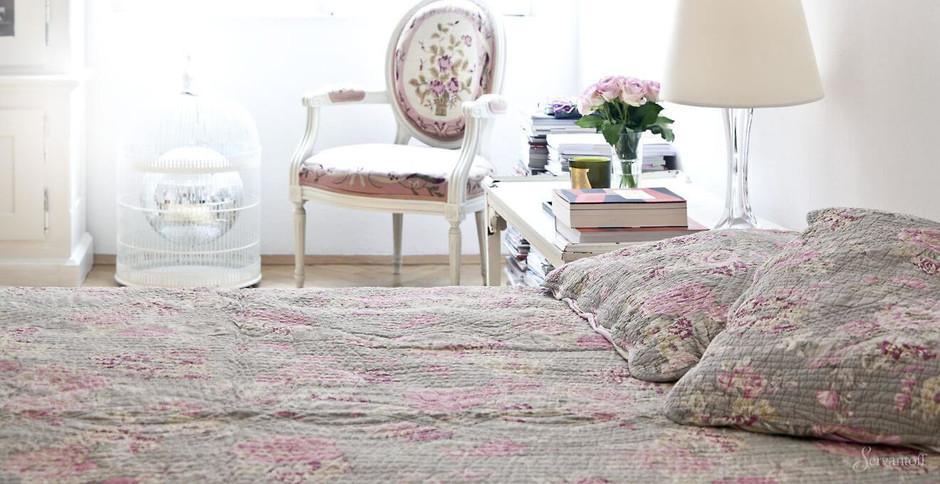 спальня в стиле шебби шик фото