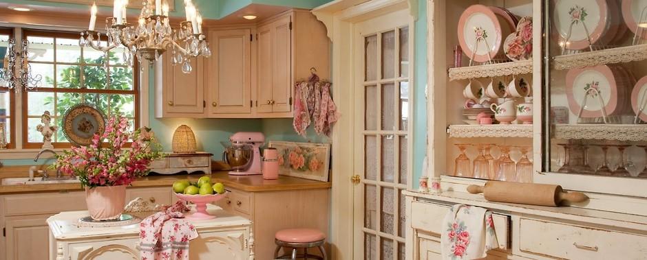 кухня в стиле шебби шик фото