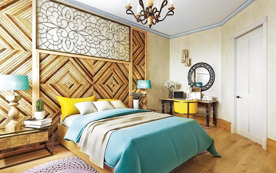 Спальня в стиле эклектики фото