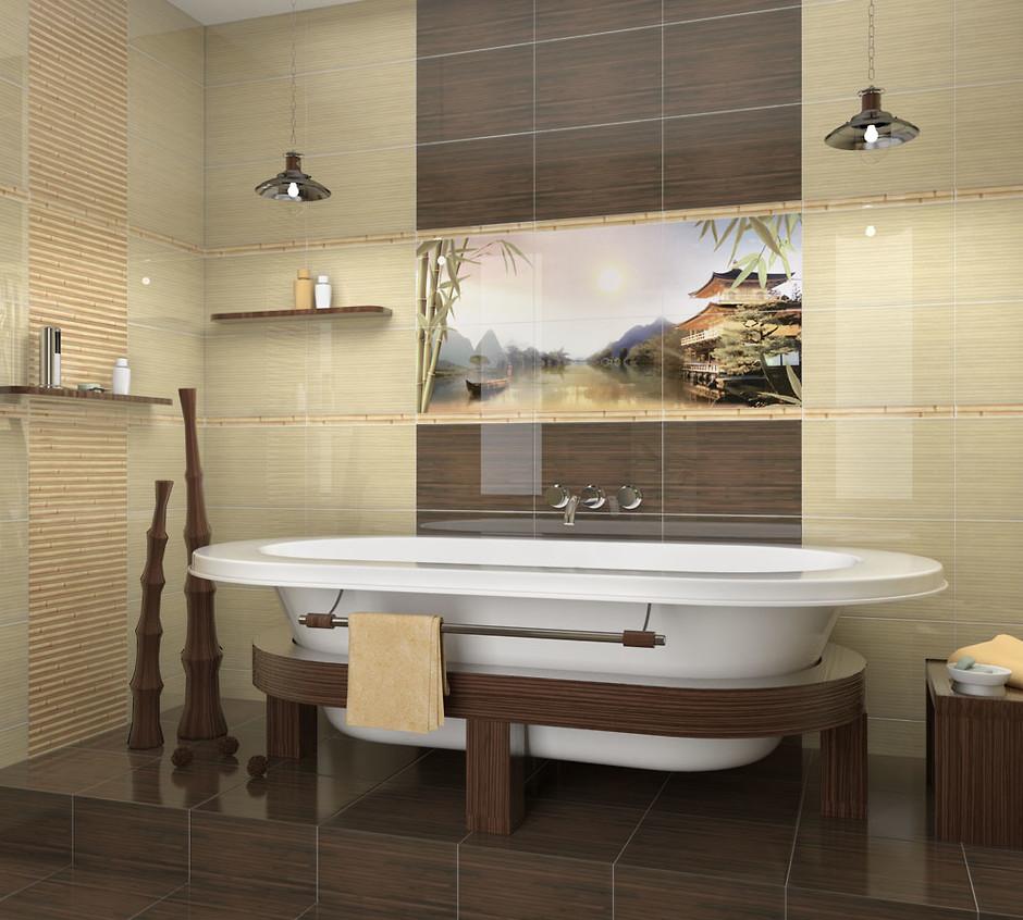 экостиль в интерьере ванной фото