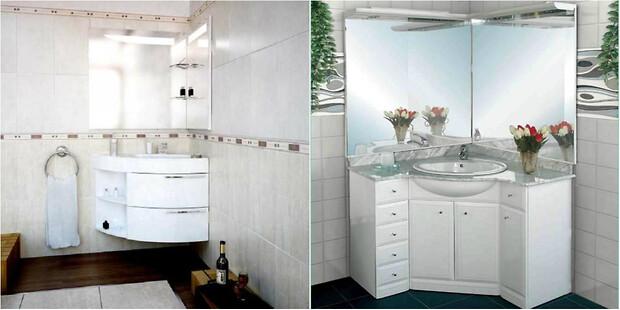 Зеркало на две стены