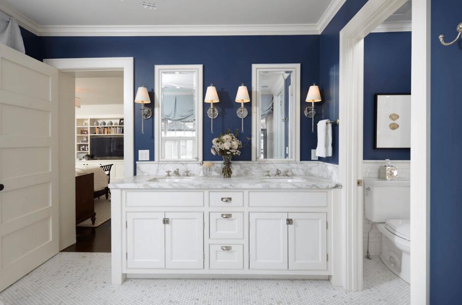 Синий цвет ванная комната