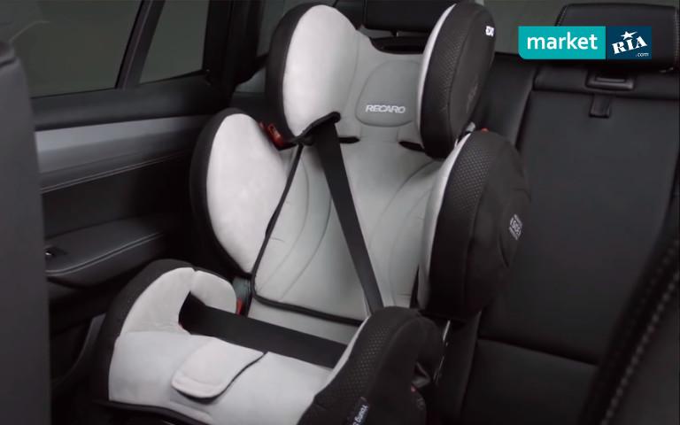 Установка детского автокресла при помощи штатного ремня безопасности