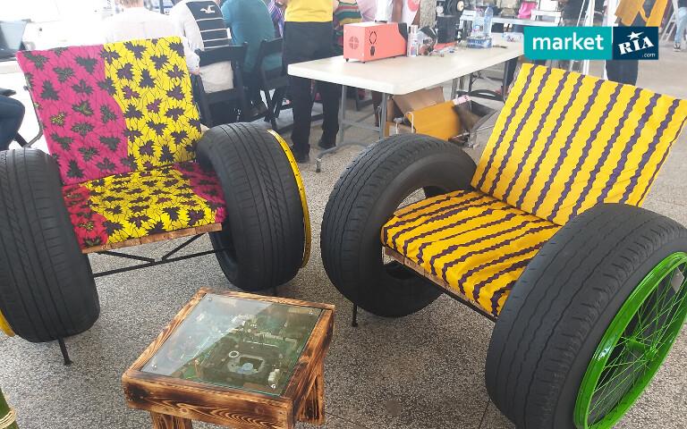 Мебель из шин
