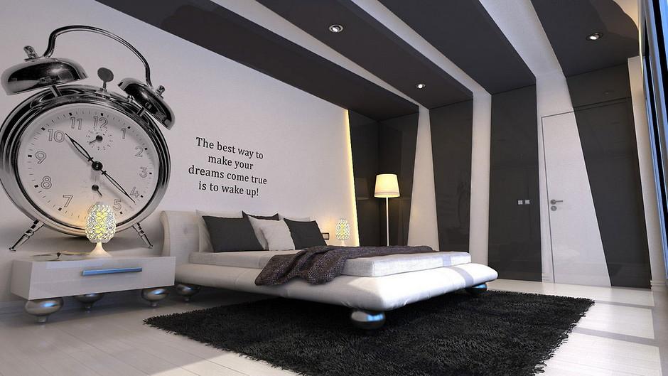 Виниловые наклейки над кроватью