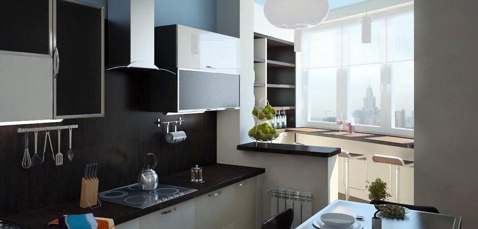 приєднання балкона до кухні