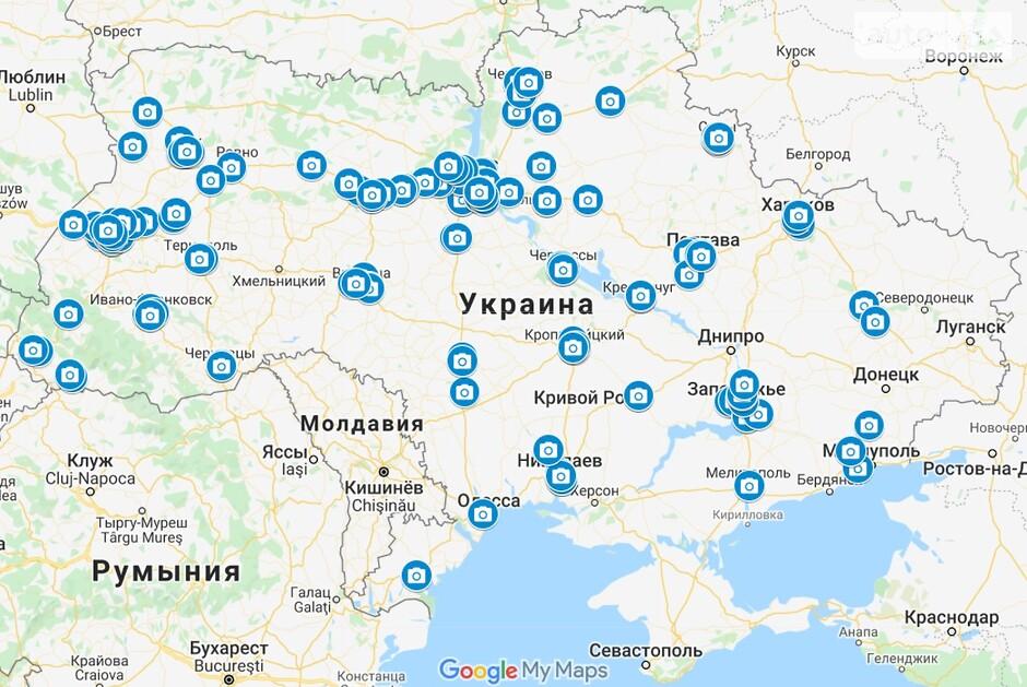 Карта спидкамов