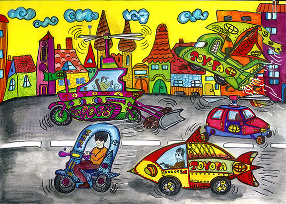 Рисунки конкурса автомобиль моей мечты 99