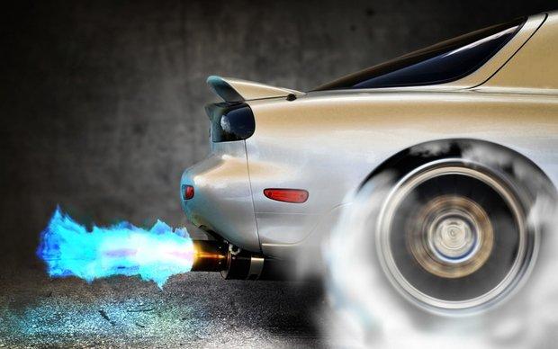 дым из-под колес