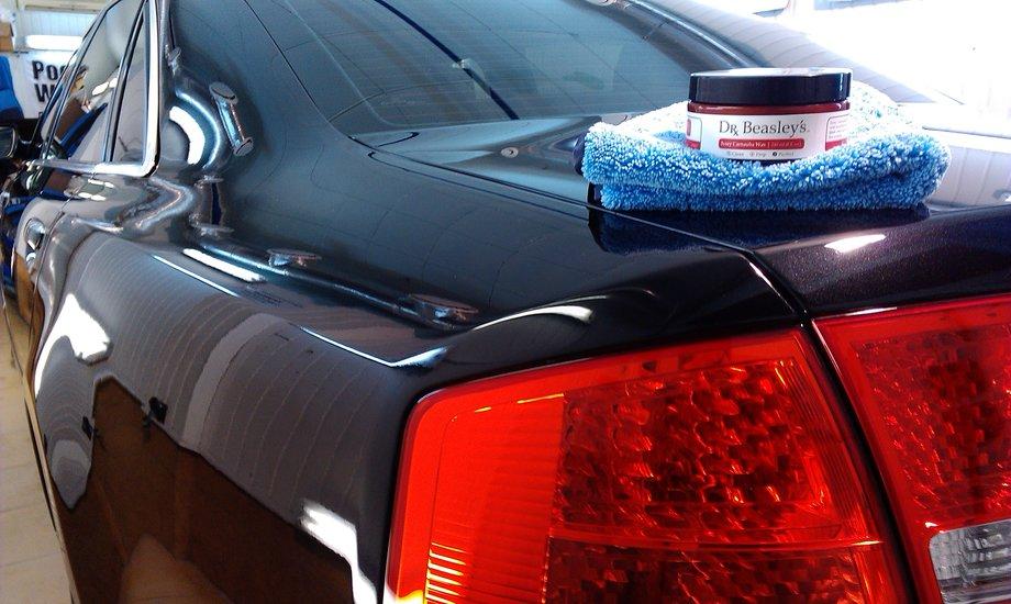 полировка авто жидкий воск