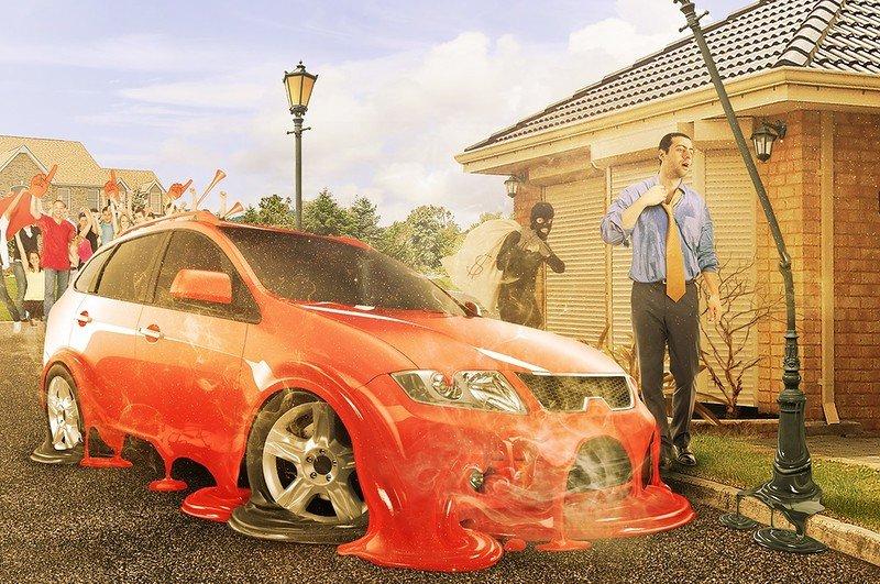 Авто в жару