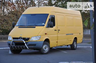 Характеристики Mercedes-Benz Sprinter 311 груз. Легковой фургон (до 1,5 т)