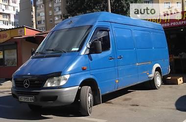 Характеристики Mercedes-Benz Sprinter 413 груз. Мікроавтобус вантажний (до 3,5т)