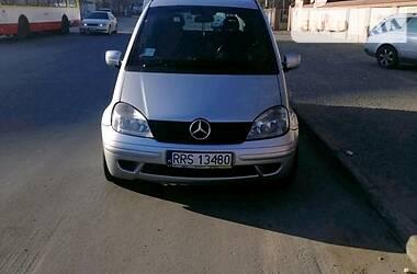 Характеристики Mercedes-Benz Vaneo Минивэн