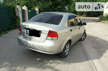 Характеристики Chevrolet Aveo Седан