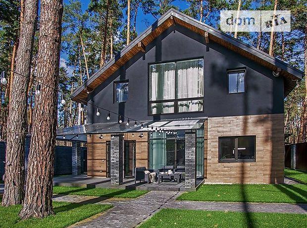 двухэтажный дом с камином, 150 кв. м, пеноблок. Сдается помесячно в Буче, в районе Буча фото 1