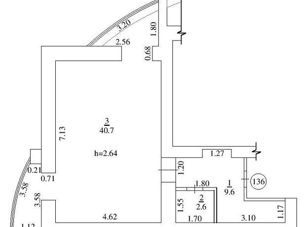 Аренда офисного помещения в Белой Церкви, Леваневского улица 74, помещений - 1, этаж - 17 фото 1