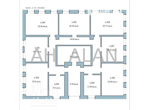 Аренда офисного помещения в Киеве, Кудрявская ул., помещений - 10, этаж - 2 фото 1