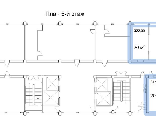 Аренда офисного помещения в Киеве, Победы проспект 57, помещений - 5, этаж - 5 фото 1