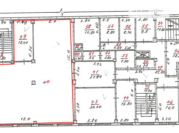 Аренда офисного помещения в Николаеве, Чигрина улица 29 в, помещений - 1, этаж - 2 фото 1