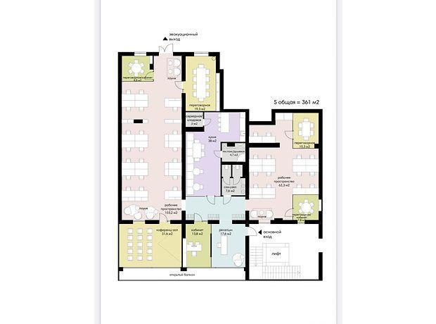 Оренда офісної будівлі в Харкові, Клочківська вулиця 98А, приміщень - 1, поверхів - 8 фото 1