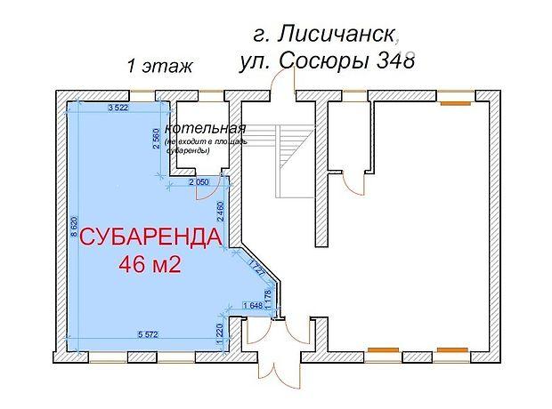 Помещение свободного назначения в Лисичанске, сдам в аренду по Владимира Сосюры 348, район Лисичанск, цена: 7 000 грн за объект фото 1