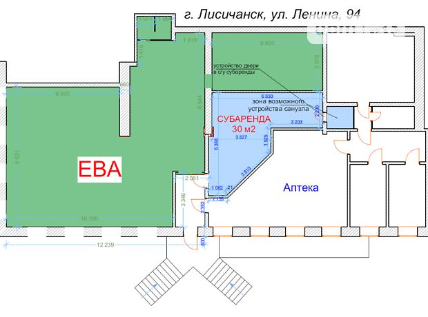 Помещение свободного назначения в Лисичанске, сдам в аренду по Победы проспект 94, район Лисичанск, цена: 5 000 грн за объект фото 1