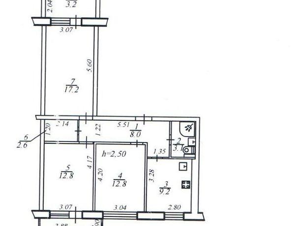 Продажа квартиры, 3 ком., Днепропетровск, р‑н.Соборный, Героев проспект