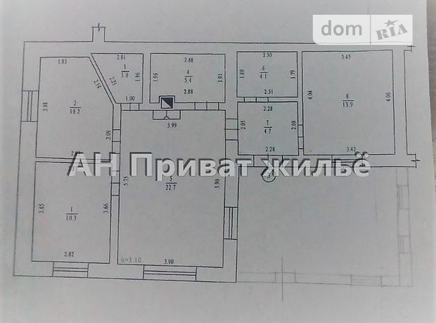 Продажа части дома, 90м², Полтава, р‑н.Браилки