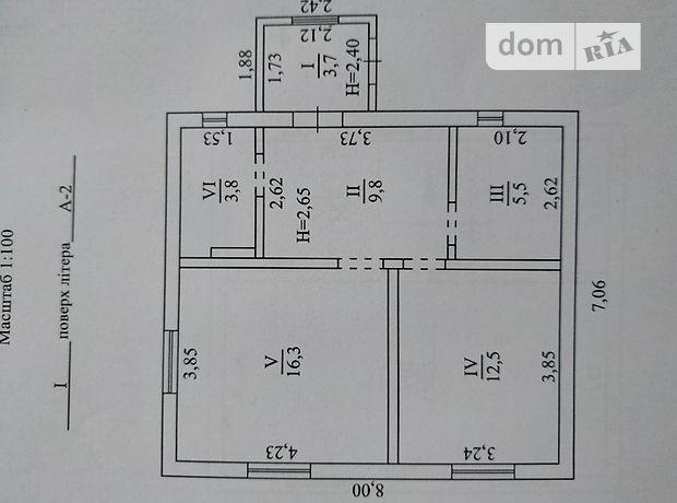 трехкомнатная дача без мебели, 97.6 кв. м, газобетон. Продажа в Солнечном (Житомирская обл.) фото 1