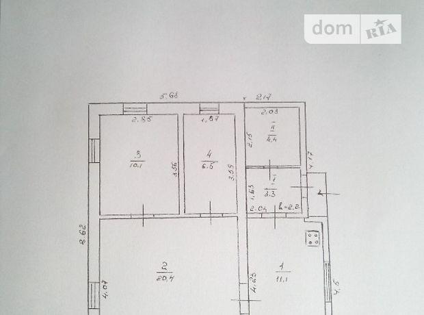 трехкомнатная дача без мебели, 54.8 кв. м, глинобитный. Продажа в Золотоноше, в районе Золотоноша фото 1