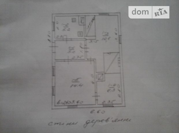 двухэтажный дом с садом, 57 кв. м, сруб. Продажа в Мошнах (Черкасская обл.) фото 1