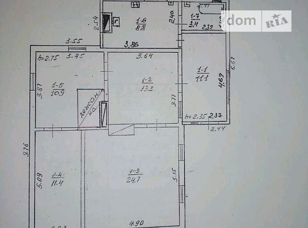 Продажа дома, 79м², Черкассы, р‑н.Русская Поляна