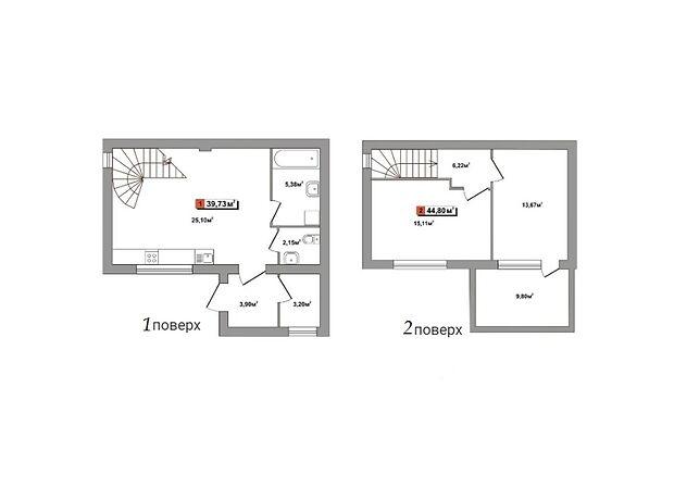 двухэтажный дом, 77 кв. м, кирпич. Продажа в Черкассах район ЮЗР фото 1