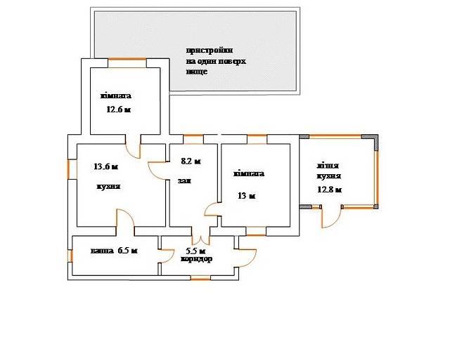 одноэтажный дом с садом, 72 кв. м, шлакоблок. Продажа в Браиловом (Винницкая обл.) фото 1