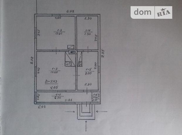 одноэтажный дом, 66 кв. м, дерево и кирпич. Продажа в Верхней (Ивано-Франковская обл.) фото 1