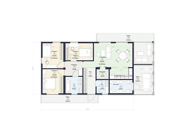 двухэтажный дом, 111 кв. м, керамический кирпич. Продажа в Ходосовке (Киевская обл.) фото 1