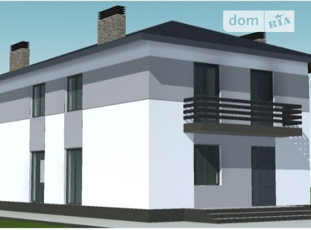двухэтажный дом с балконом, 96 кв. м, пеноблок. Продажа в Рудно (Львовская обл.) фото 1