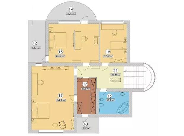 двухэтажный дом, 242 кв. м, пеноблок. Продажа в Макарове район Макаров фото 1