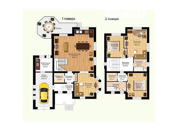двухэтажный дом, 231.7 кв. м, пеноблок. Продажа в Макарове район Макаров фото 1