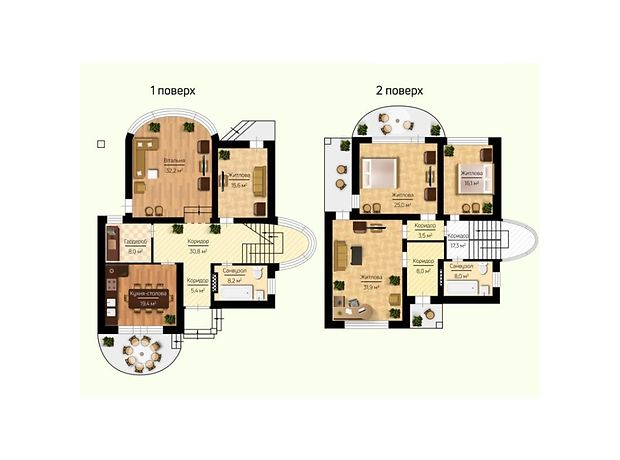 двухэтажный дом, 230 кв. м, пеноблок. Продажа в Макарове район Макаров фото 1