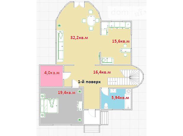 двухэтажный дом, 351.5 кв. м, пеноблок. Продажа в Макарове район Макаров фото 1
