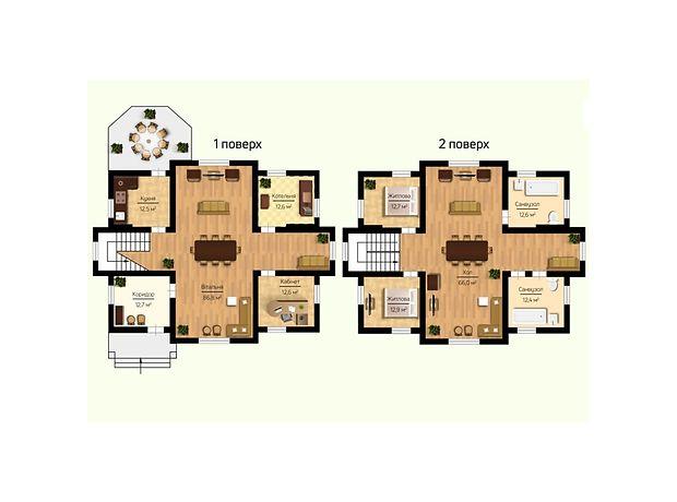 двухэтажный дом, 253.7 кв. м, пеноблок. Продажа в Макарове район Макаров фото 1