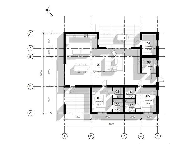двухэтажный дом, 181 кв. м, пеноблок. Продажа в Макарове район Макаров фото 1