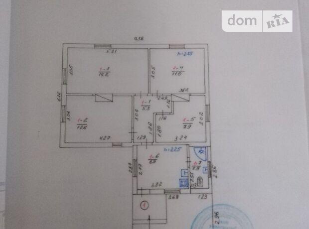 одноэтажный дом с ремонтом, 64.8 кв. м, дерево и кирпич. Продажа в Мотижине (Киевская обл.) фото 1