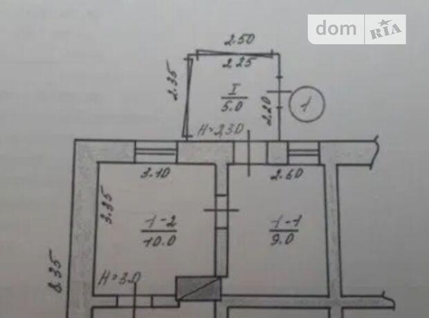 одноповерховий будинок з верандою, 34.5 кв. м, глинобитний. Продаж в Могилеві-Подільському, район Могилів-Подільський фото 1