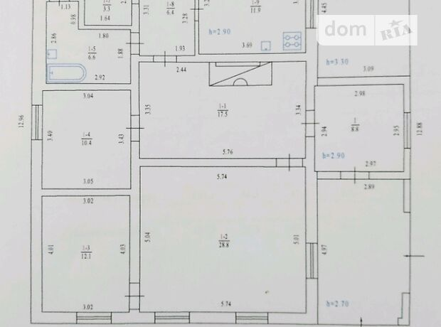 одноэтажный дом с камином, 169.4 кв. м, кирпич. Продажа в Нехвороще (Полтавская обл.) фото 1